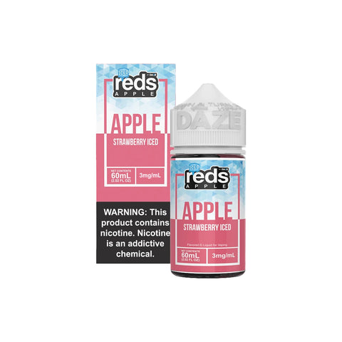 Reds E-Juice - Apple Strawberry Iced