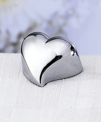 Set of 4 Chrome Heart Place Card Holders -- Wedding Favor