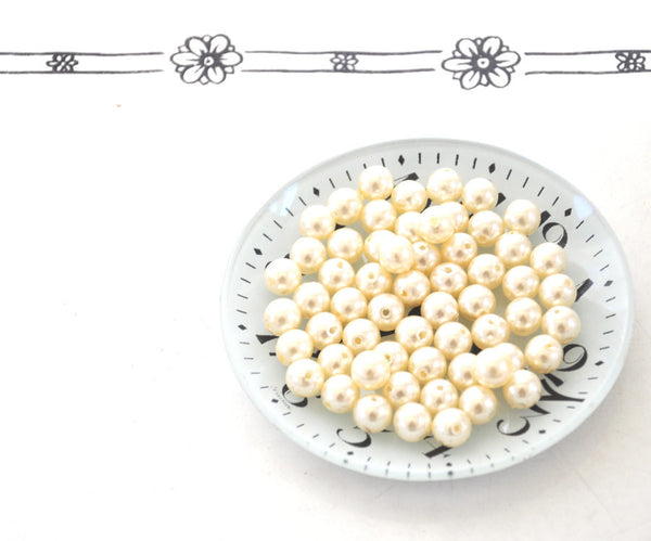 10mm Ivory Pearl Loose Beads