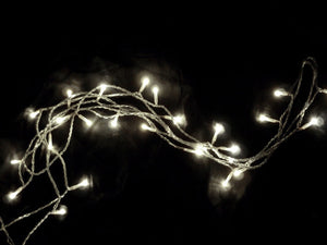 12 Foot LED Light Garland Strand with Warm White Lights -- Electric