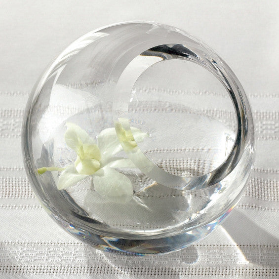 125mm Glass Ball Tabletop Candle Holder Vase