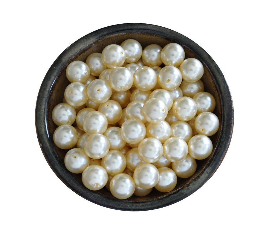 20mm Ivory Faux Pearl Loose Beads