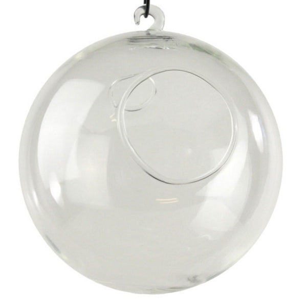 150mm Clear Hanging Glass Candle Holder Globes -- Set of Four -- 6 Inches