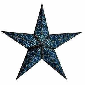 Paper Starlightz Lamp -- Marrakesh Black & Turquoise