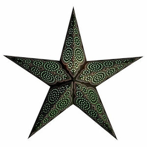 "24"" Paper Starlightz Lamp -- Marrakesh Green & Brown Star Lantern"
