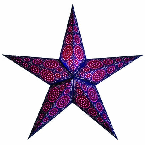 "24"" Paper Starlightz Lamp -- Marrakesh Pink and Blue"