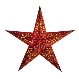 "24"" Paper Starlightz Lamp -- Mercury Orange Star Lantern"