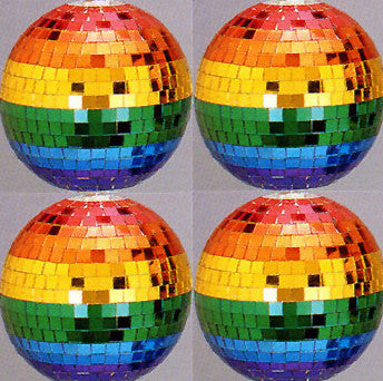 4 Inch Mirrored Rainbow Disco Ball