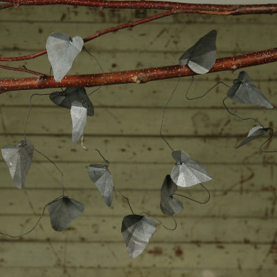 Galvenized Metal Leaf Garland