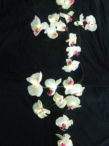 LED Battery Operated Branch with White Orchid Flowers