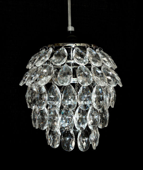 Five Tier Tulip Shape Acrylic Crystal Chandelier