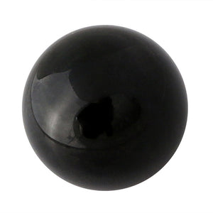 50mm Black Gazing Crystal Glass Ball -- Made in Italy
