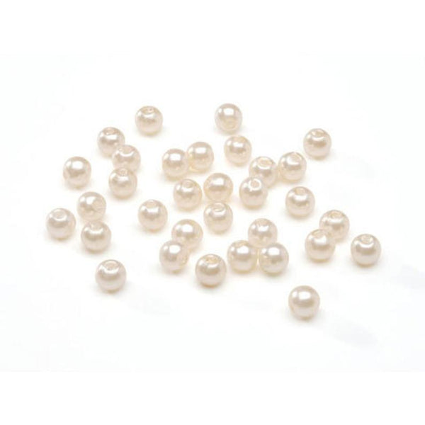 400 Cream 8mm Acrylic Pearl Beads