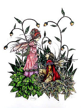 Amy Brown Fairy Woman + Man Devotion Print