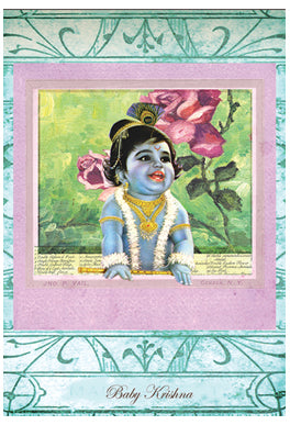 Baby Krishna Greeting Card by Papaya
