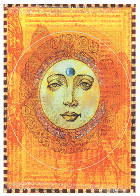 Bindhi Moon Greeting Card by Papaya