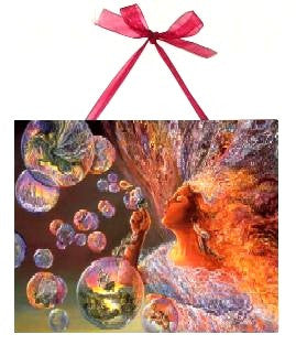 Josephine Wall Bubble Flower Fairy Ceramic Art Tile