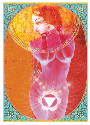 Chakra Woman Greeting Card by Papaya