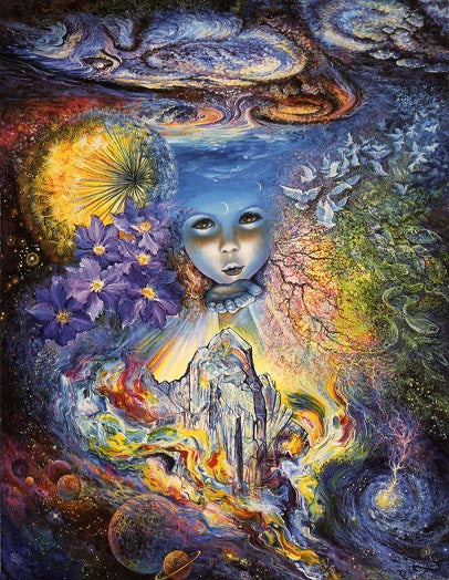 Josephine Wall Child of the Universe Greeting Card