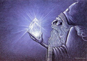 Ed Gedrose Crystal Wizard Greeting Card