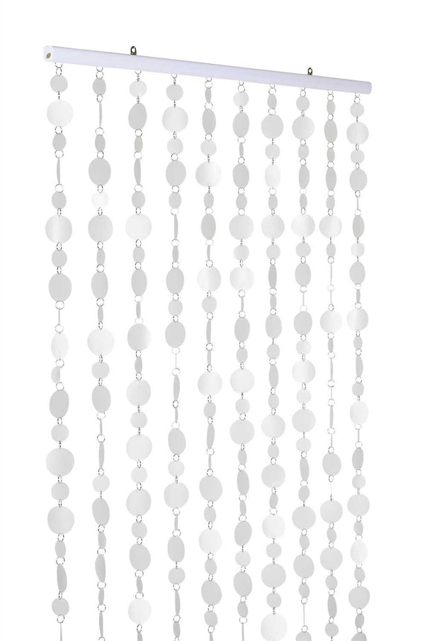 12 Feet Long Faux Capiz Style Frosted Clear PVC Circles