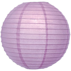 Purple Lilac 8 Inch Paper Lantern -- Set of 4 Luna Bazaar