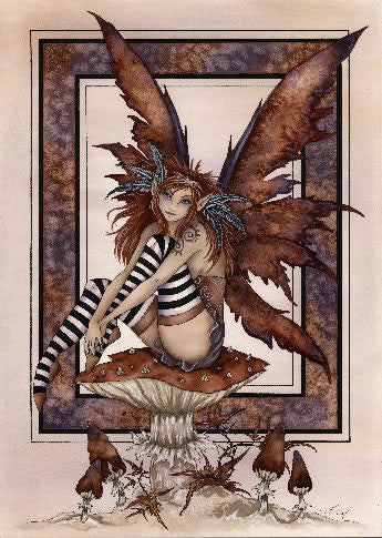 Amy Brown Naughty Faery Postcard