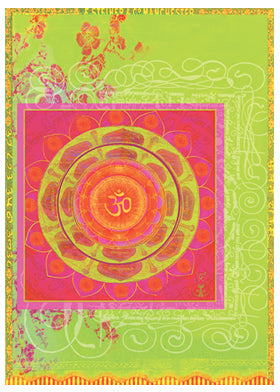 Om Garden Greeting Card by Papaya