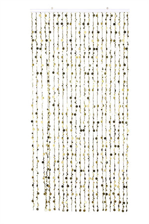 10' Gold Beaded Curtain -- Champagne Bubbles -- 10 Feet High