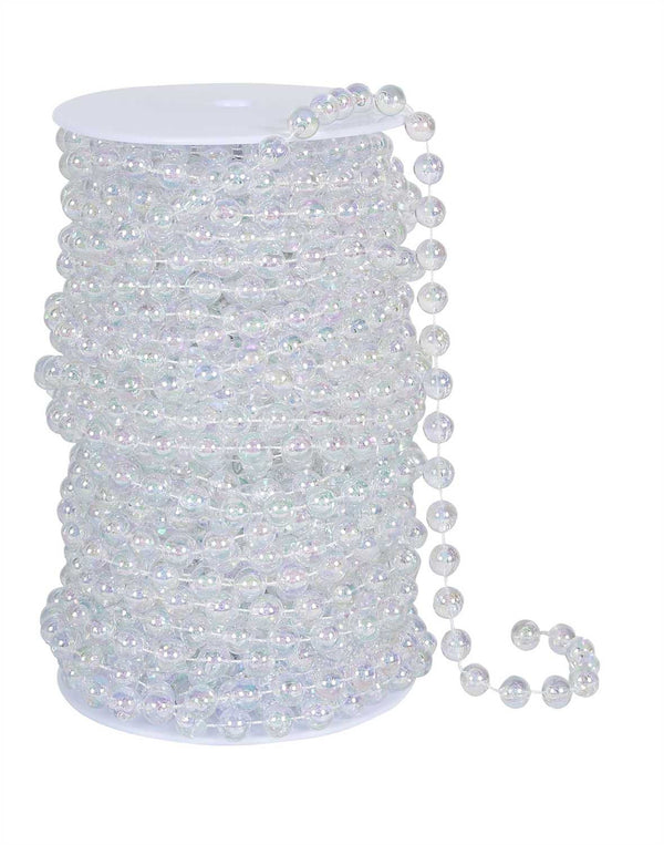Iridescent Clear Round Beads on a Spool