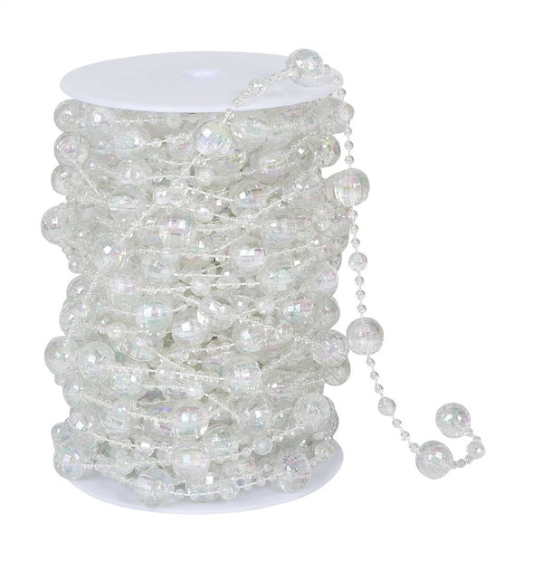 Iridescent Clear Beads on Spool -- Disco Balls