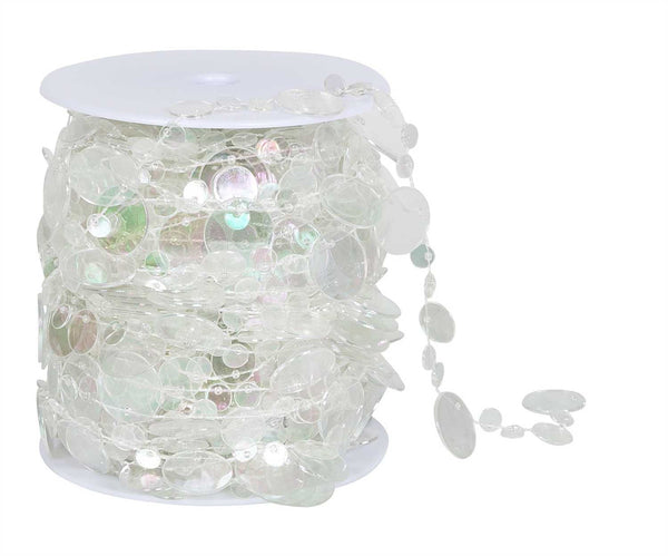 Iridescent Clear Champagne Bubbles Bead Spool