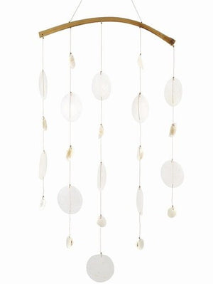 Capiz Shell Windchime with Seashells
