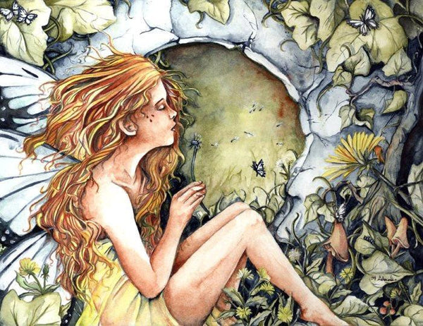 Abranda Sisson Dandelion Wishes Fairy Print