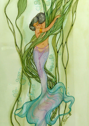 Karen Bagnard African II  Mermaid Greeting Card