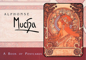 Alphonse Mucha Paintings Postcard Book