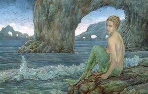 James Browne Signed Alure Mermaid Matted Print -- 16 x 20