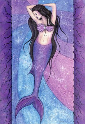 Jessica Galbreth Amethyst Mermaid Limited Edition Print