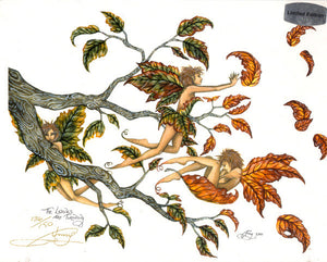 Amy Brown Leaves are Turning Limited Edition Signed Fairy Print