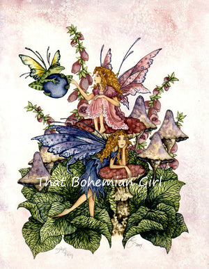 Amy Brown Magic Frog Fairy Print -- Rare Out of Print