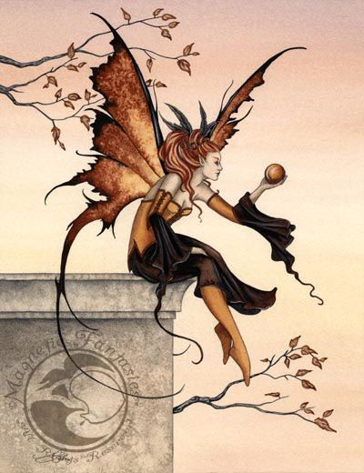 Amy Brown Sunstone Fairy  5x7 Art Magnetic Print