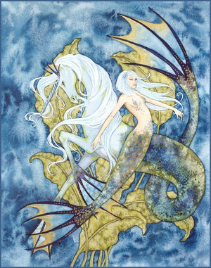 Amy Brown Aquamarine Mermaid Print