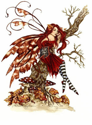 Amy Brown Autumn Daydream Fairy Print
