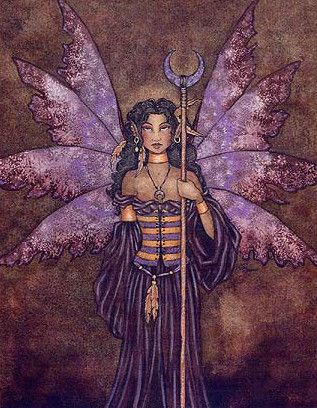 Amy Brown Dark Queen Fairy Print