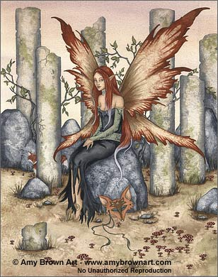 Amy Brown Fox Maiden Fairy Print
