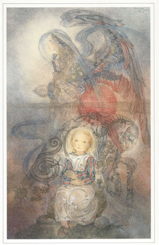 Sulamith Wulfing The Angel and the Child Art Print Printed in the Netherlands