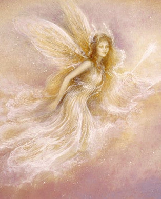 Jack Shalatain Angel in the Clouds Greeting Card