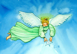 Karen Bagnard Angel of Light Greeting Card