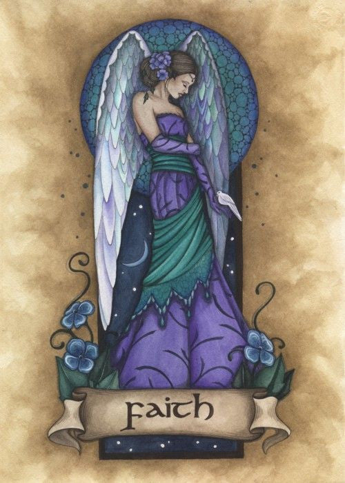 Jessica Galbreth Angel Virtues Faith Ceramic Tile Art