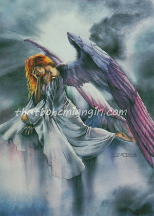 5 Wholesale Susan Dawe Angels Wept Tonight Greeting Cards